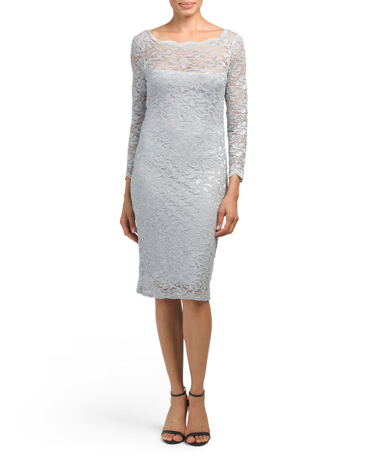 Made In USA Short Stretch Lace Dress