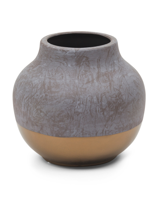 Dipped Cement Vase