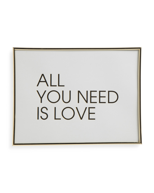 12x16 Framed All You Need Print