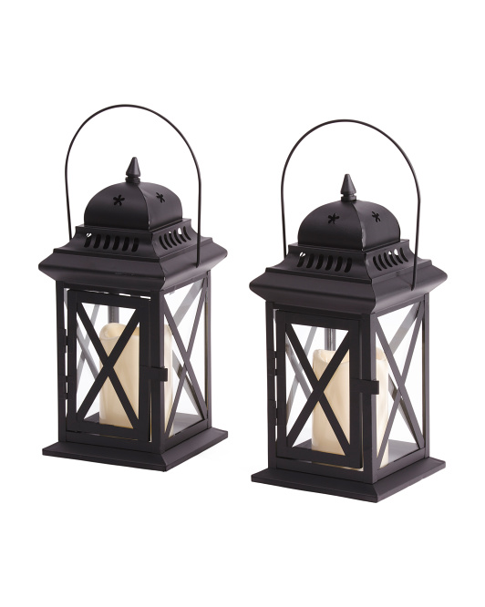 Set Of 2 Cage Lanterns