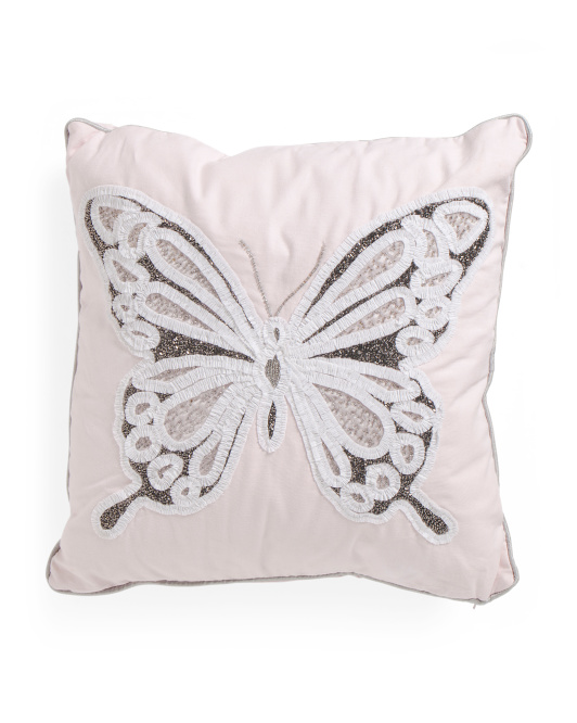 Kids Made In India 20x20 Butterfly Pillow