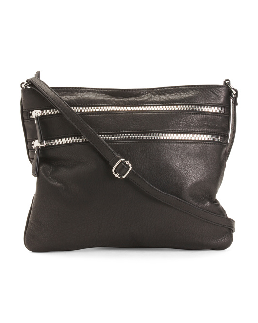 Leather Jesse Zipper Crossbody