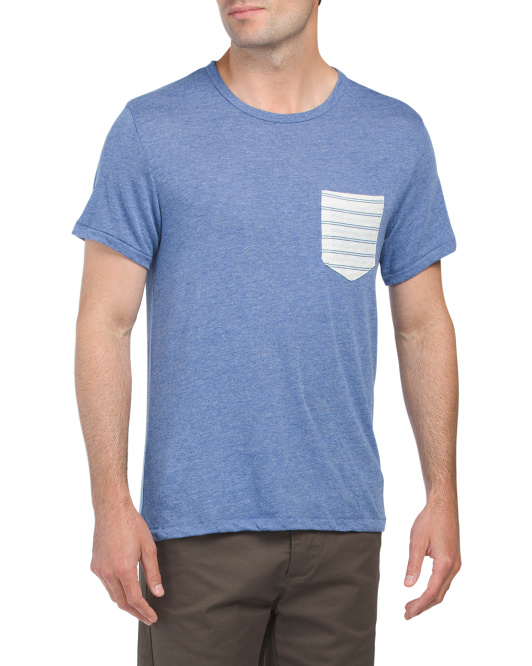 Eco Jersey Printed Pocket Tee