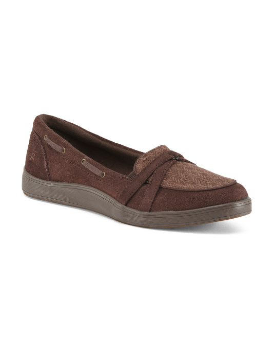 Slip On Suede Walking Shoes