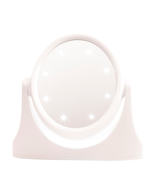 Vanity Stand Mirror With LED Lights