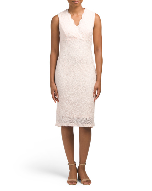 Janey Lace Midi Cocktail Dress