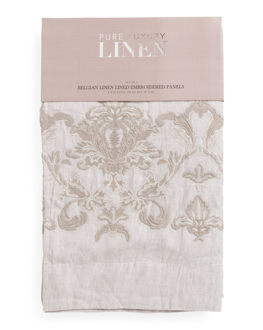 Made In India Set Of 2 Belgian Linen Curtains