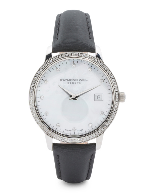 Women's Swiss Made Toccata Diamond Bezel Watch
