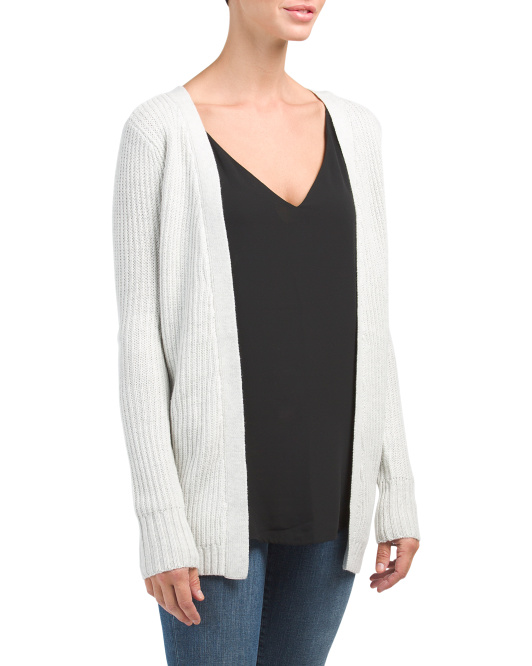 Juniors Lace Up Back Cardigan