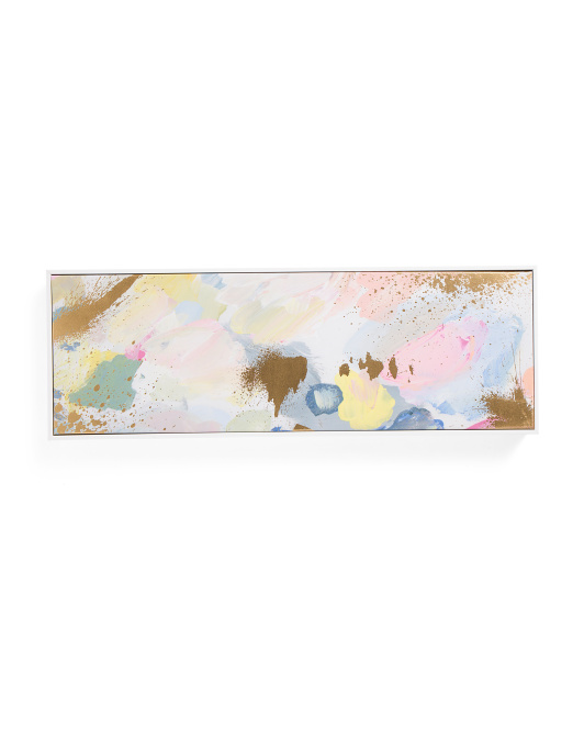 30x10 Pastel Gold Canvas Wall Art