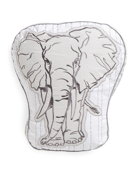 Kids 18x20 Sketched Elephant Pillow