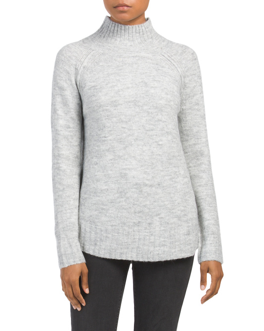 Long Sleeve Sweater With Shirt Tail Monet
