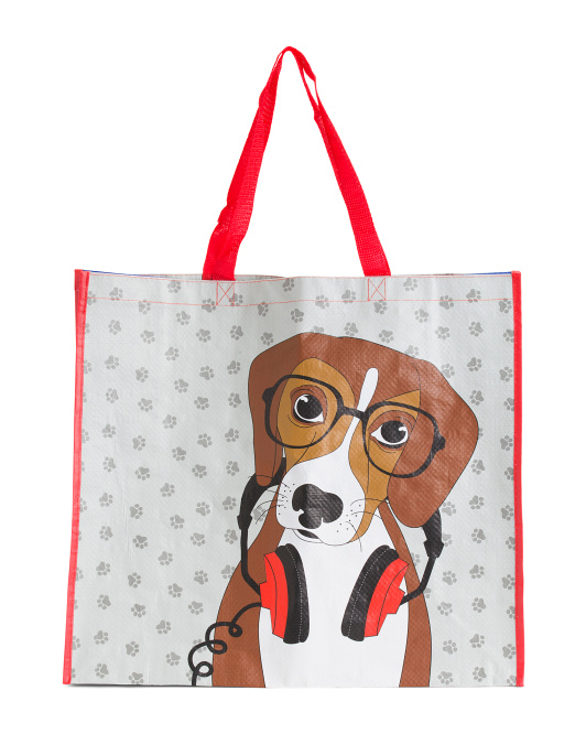 Music Dog Reusable Bag