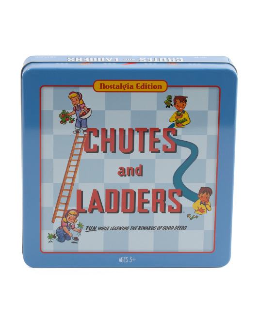 Vintage Chutes And Ladders Tin