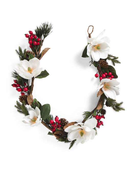 6ft Magnolia Garland