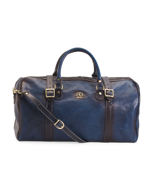 Made In Italy East West Calf Leather Duffel