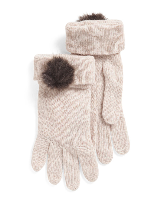 Made In Italy Wool Blend Gloves