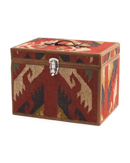 Made In India Kilim Filling Cabinet Box