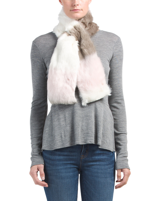 Faux Fur Pull Thru Scarf