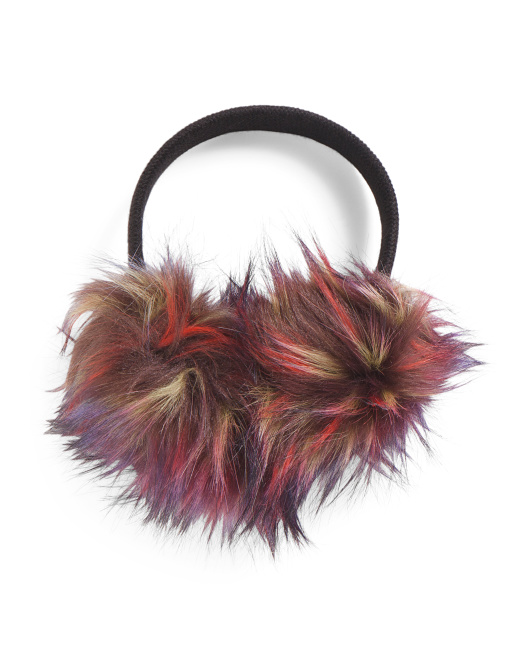Faux Fur Earmuffs With Stud Band