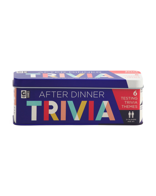 After Dinner Trivia Cards In Tin Box