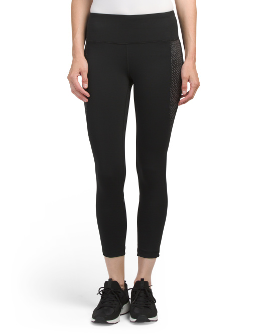 Capris With Power Mesh