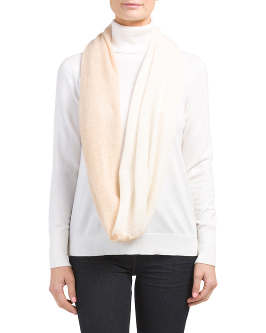 Two-tone Cashmere Infinity Scarf