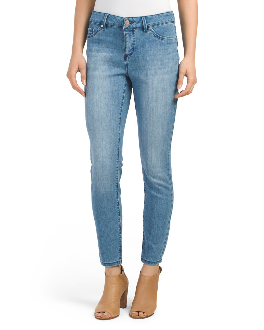 High Waist Promo Denim Ankle Jeans