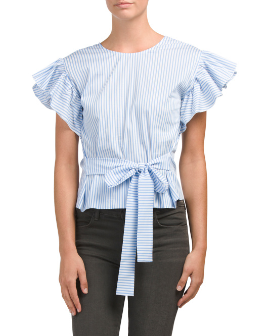 Made In Italy Alighiero Ruffle Top