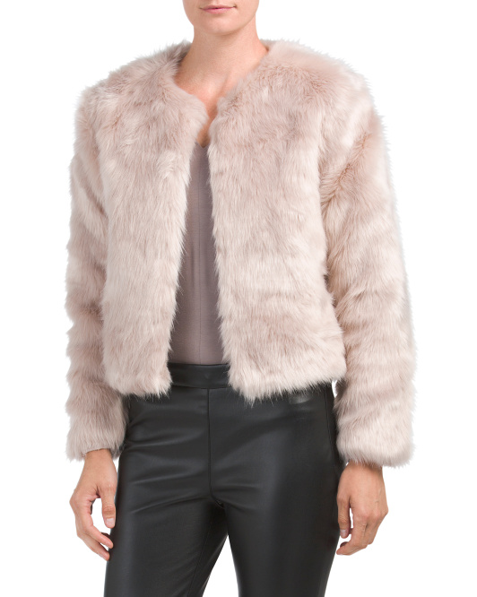 Short Faux Fur Chubby Jacket