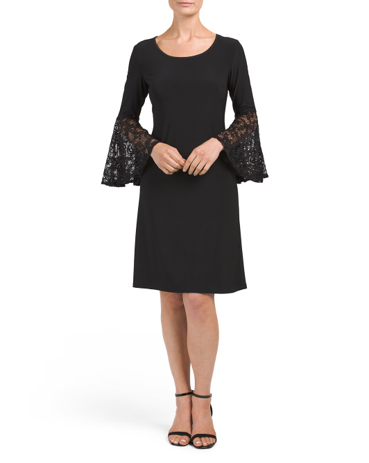 Made In USA Lace Sleeve Dress