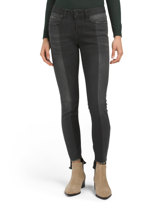 Juniors Two Tone Reconstructed Jeans