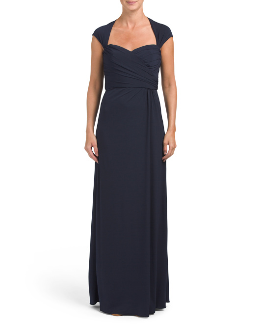 Cap Sleeve Jersey Gown