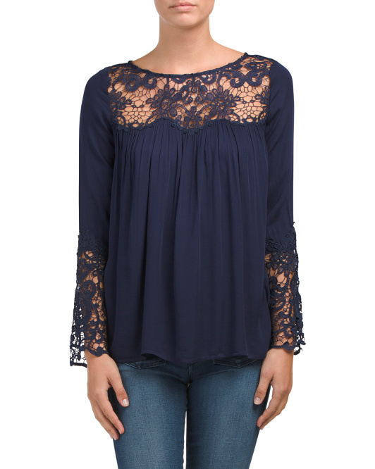 Juniors Geraldine Lace Top