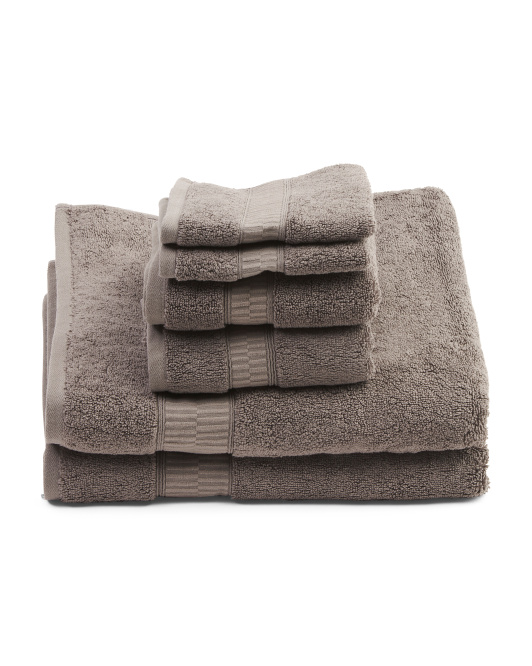 Set Of 6 Bath Towels