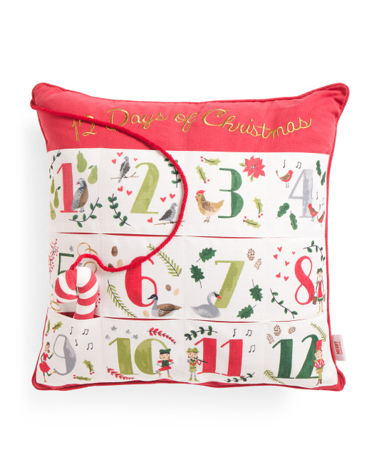 20x20 12 Days Of Christmas Pillow