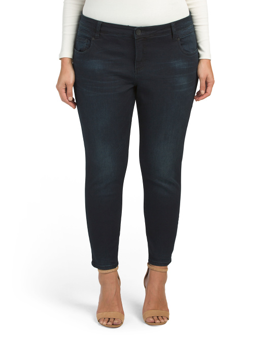 Plus Reese Skinny Ankle Jeans