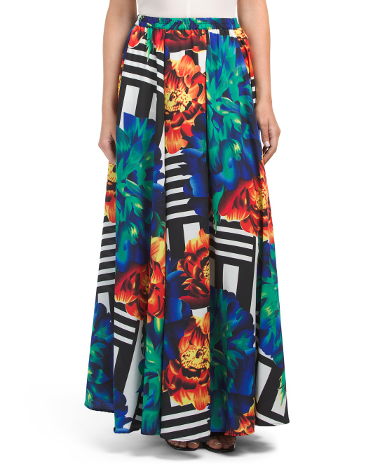 Floral Geo Maxi Skirt