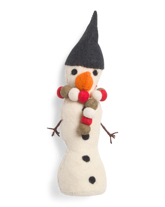 Made In India Wool Snowman