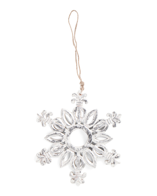 Made In India 11in Foiled Snowflake Ornament