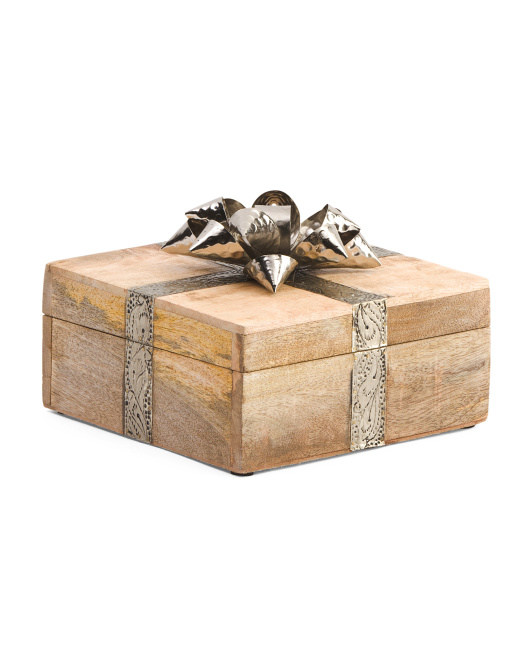 Made In India Small Gift Box With Bow