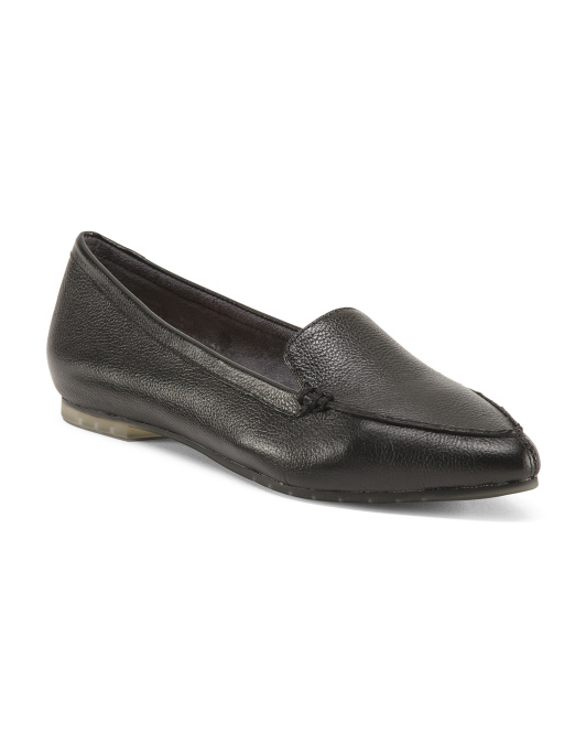 Audrai Leather Ballet Flats