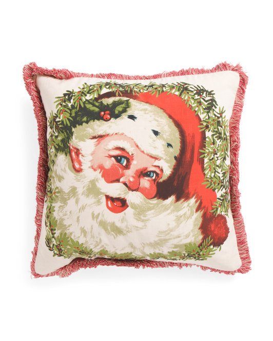 Made In India 20x20 Santa Face Pillow