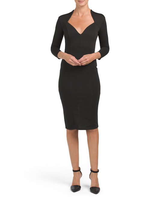 Juniors Sweetheart Neck Bodycon Dress