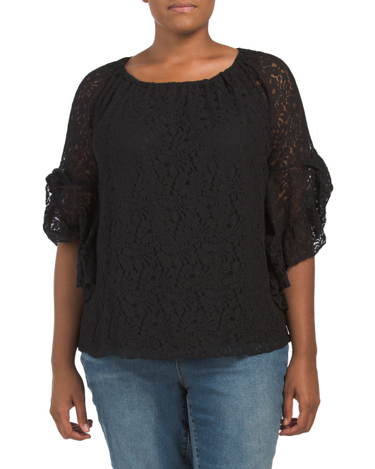 Plus Lace Symphony Top