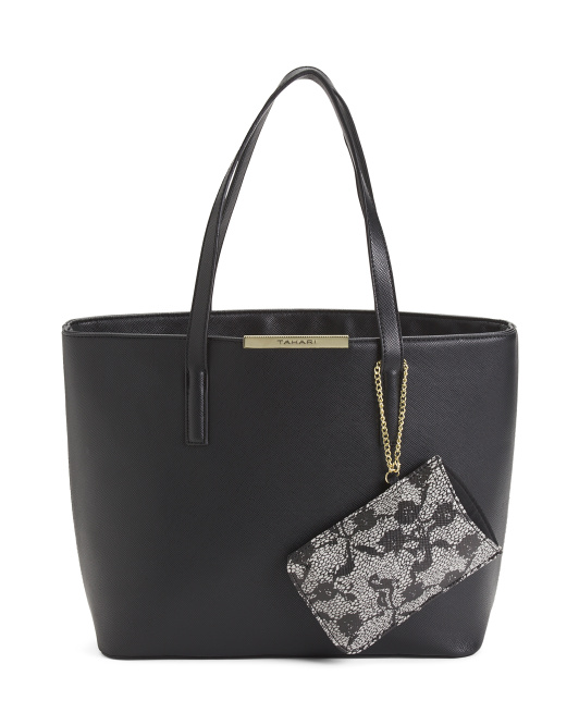 Lacey Triple Entry Tote With Pouch