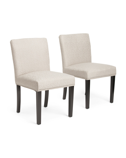 Set Of 2 Edwin Chevron Chairs