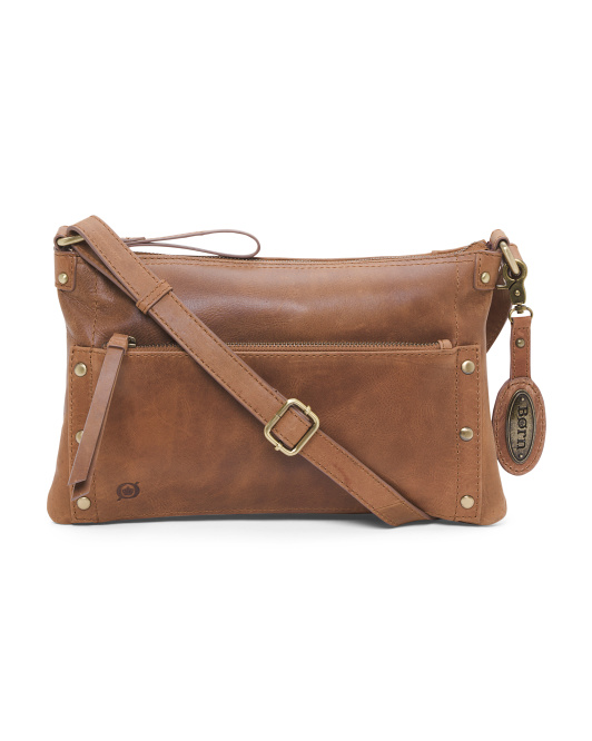 Bromton Leather Clutch Crossbody