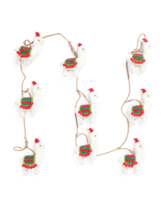 6ft Boiled Wool Llama Garland
