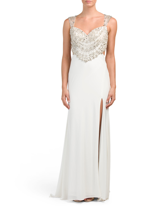 Beaded Bodice Gown